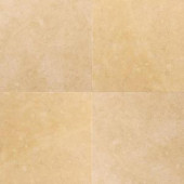 Daltile Jerusalem Antiqued Gold 16 in. x 16 in. Honed Natural Stone Floor and Wall Tile (10.68 sq. ft. / case)