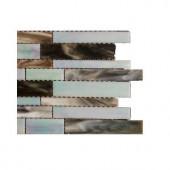 Splashback Tile Matchstix Tidal Wave Glass Floor and Wall Tile - 6 in. x 6 in. Tile Sample
