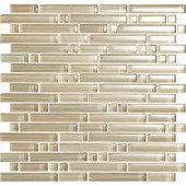 EPOCH Brushstrokes Chiarro-1502-S Strips Mosaic Glass Mesh Mounted - 4 in. x 4 in. Tile Sample