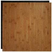 Place N' Go Bamboo 18.5 in. x 18.5 in. Interlocking Waterproof Vinyl Tile with Built-In Underlayment