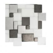 Splashback Tile Tetris Steel Ice Parisian Pattern - 6 in. x 6 in. Tile Sample