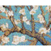 Mosaic Loft Almond Branch Pendant 30 in. x 24 in. Glass Wall Light Residential Floor Mosaic Tile (6 Indv Sections-Case)