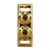 Heath Zenith Polished Brass Multi-Family Doorbell Name Plate