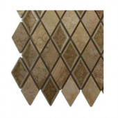 Splashback Tile Roman Selection Side Saddle Diamond Glass Floor and Wall Tile - 6 in. x 6 in. Tile Sample