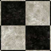 Armstrong Caspian II Checkerboard Gray Vinyl Plank Flooring - 6 in. x 9 in. Take Home Sample