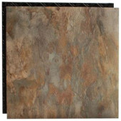 Place N' Go Ocean Shale 18.5 in. x 18.5 in. Interlocking Waterproof Vinyl Tile with Built-In Underlayment