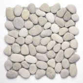 Solistone River Rock Brookstone 12 in. x 12 in. Natural Stone Pebble Mosaic Floor and Wall Tile (10 sq. ft. /case)