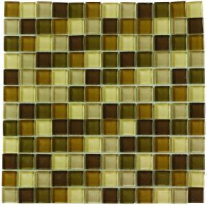 Jeffrey Court Tea Leaf Medley 12 in. x 12 in. Glass Wall Tile