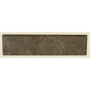 Daltile Brancacci Fresco Caffe 3 in. x 12 in. Beige Ceramic Bullnose Trim Tile