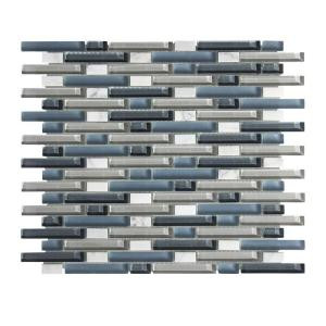 Jeffrey Court Cyclove 13-1/4 in. x 10-7/8 in. Glass Stone Mosaic Wall Tile