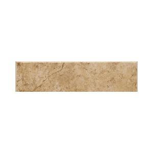 Daltile Fidenza Dorado 2 in. x 6 in. Ceramic Bullnose Wall Tile