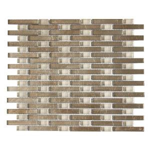Jeffrey Court Sphynx 13-1/4 in. x 11 in. Glass Mosaic Wall Tile