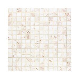 Jeffrey Court Pearl Glaze 12 in. x 12 in. Glass Mosaic Tile