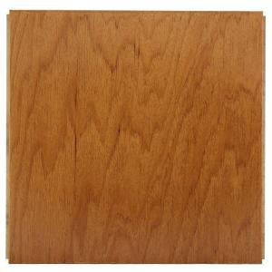Ludaire Speciality Tile Hickory Gunstock Engineered Hardwood Tile Flooring -12 in. x 12 in. Take Home Sample