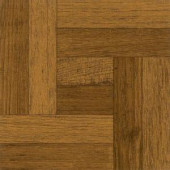 Armstrong 12 in. x 12 in. Peel and Stick Oak Parquet Antique Brown Vinyl Tile (30 sq. ft. /Case)