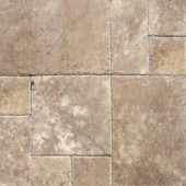 MS International Mediterranean Walnut Pattern Honed-Unfilled-Chipped Travertine Floor and Wall Tile (5 Kits - 80 sq. ft. / pallet)