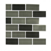 Splashback Tile Shade 1 in. x 2 in. Glass Tile - 6 in. x 6 in. Tile Sample