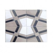 Splashback Tile Prism Sirocco Marble Floor and Wall Tile - 6 in. x 6 in. Tile Sample