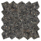 Solistone Micro Pebble Barbados Black 12 in. x 12 in. x 6.35 mm Mesh-Mounted Mosaic Floor and Wall Tile (10 sq. ft. / case)