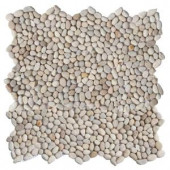 Solistone Micro Pebble Playa Beige 12 in. x 12 in. x 6.35 mm Mesh-Mounted Mosaic Floor and Wall Tile (10 sq. ft. / case)