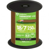 Southwire 18-7 Thermostat Wire - Brown (By-the-Foot)