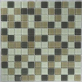 EPOCH Riverz Humbolt Mosaic Glass Mesh Mounted Tile - 4 in. x 4 in. Tile Sample