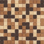 EPOCH Coffeez Coffee Blend-1104 Mosiac Recycled Glass Mesh Mounted Floor & Wall Tile - 4 in. x 4 in. Tile Sample