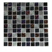 Splashback Tile Seattle Skyline Blend Squares 1/2 in. x 1/2 in. Marble And Glass Tile Squares - 6 in. x 6 in. Tile Sample