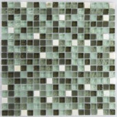 EPOCH Riverz Amazon Stone and Glass Blend Mesh Mounted Floor & Wall Tile - 4 in. x 4 in. Tile Sample